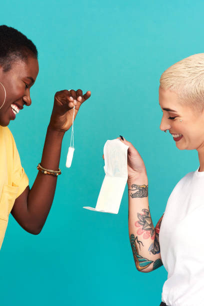 best friends share more than just cycles - sanitary pad stock photos and pictures