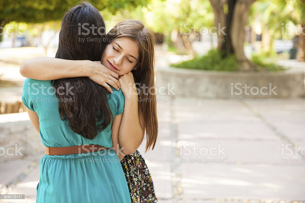 Best friends showing some love stock photo