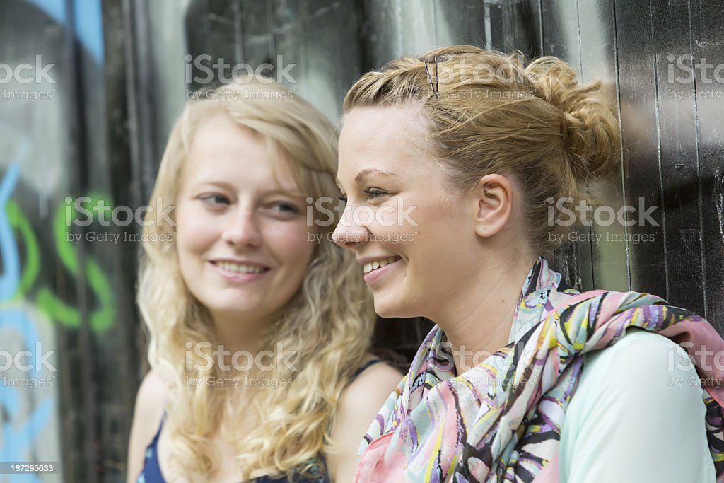 Best friends talking royalty-free stock photo