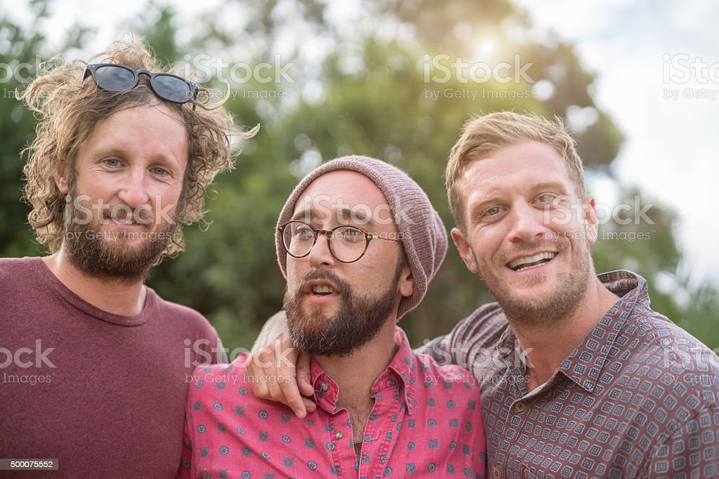 Best friends Together Hipster Group Portrait stock photo