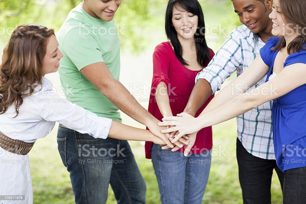 Best friends working on a team royalty-free stock photo