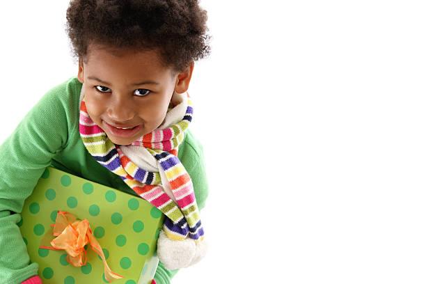beste geschenk - weihnachten 7 jährige stock-fotos und bilder