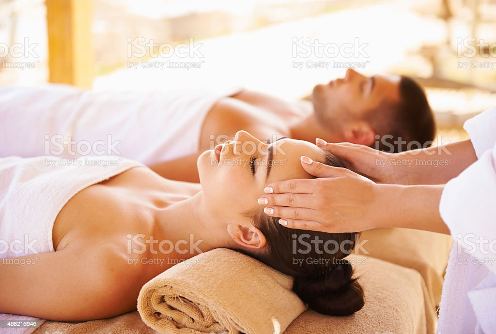 Best head massage stock photo