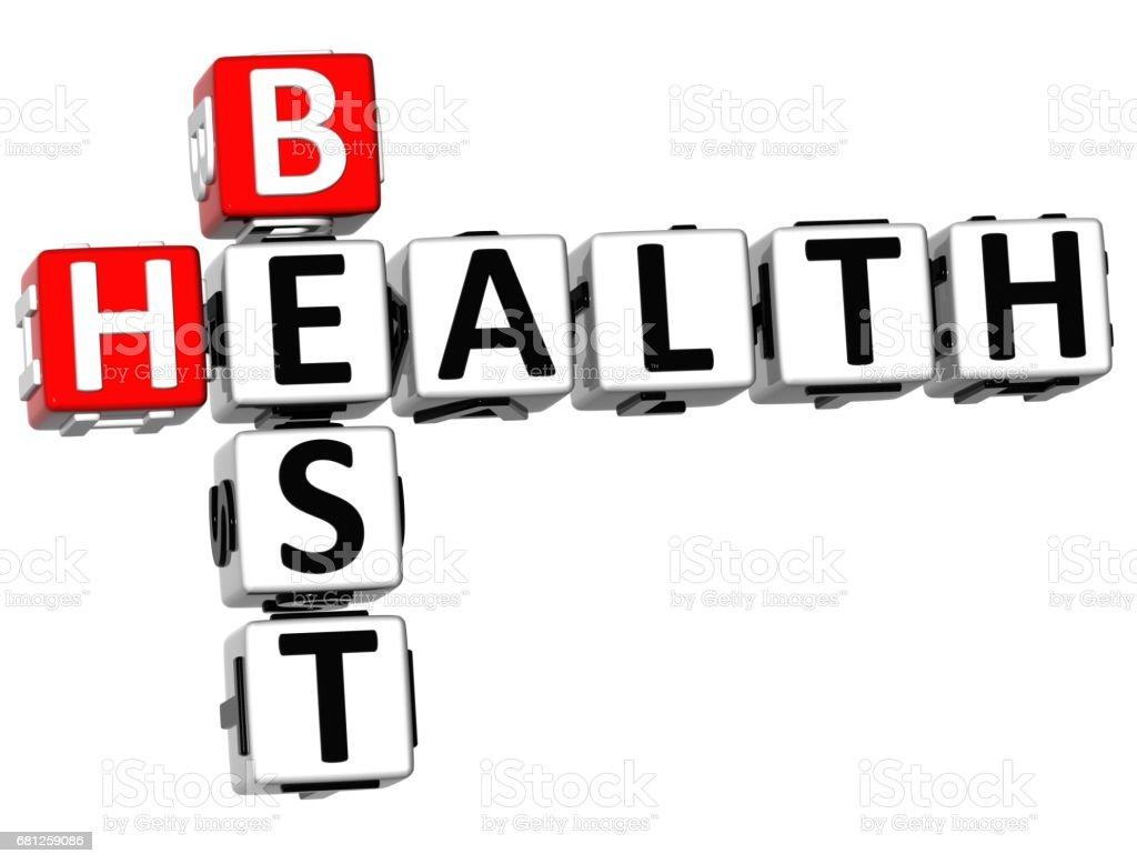 3D Best Health Crossword royalty-free stock photo