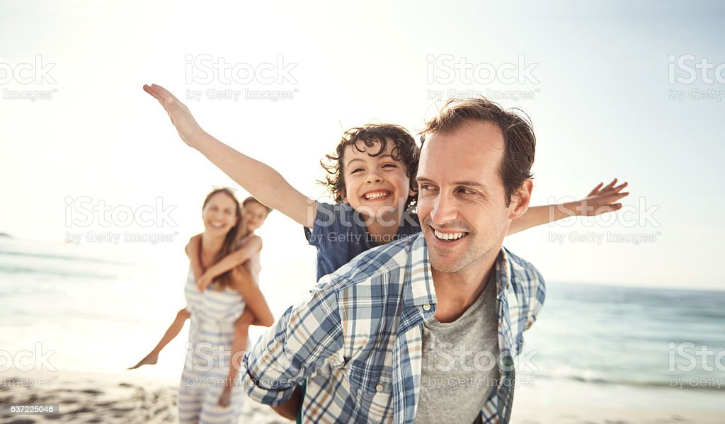 Best holiday ever! stock photo