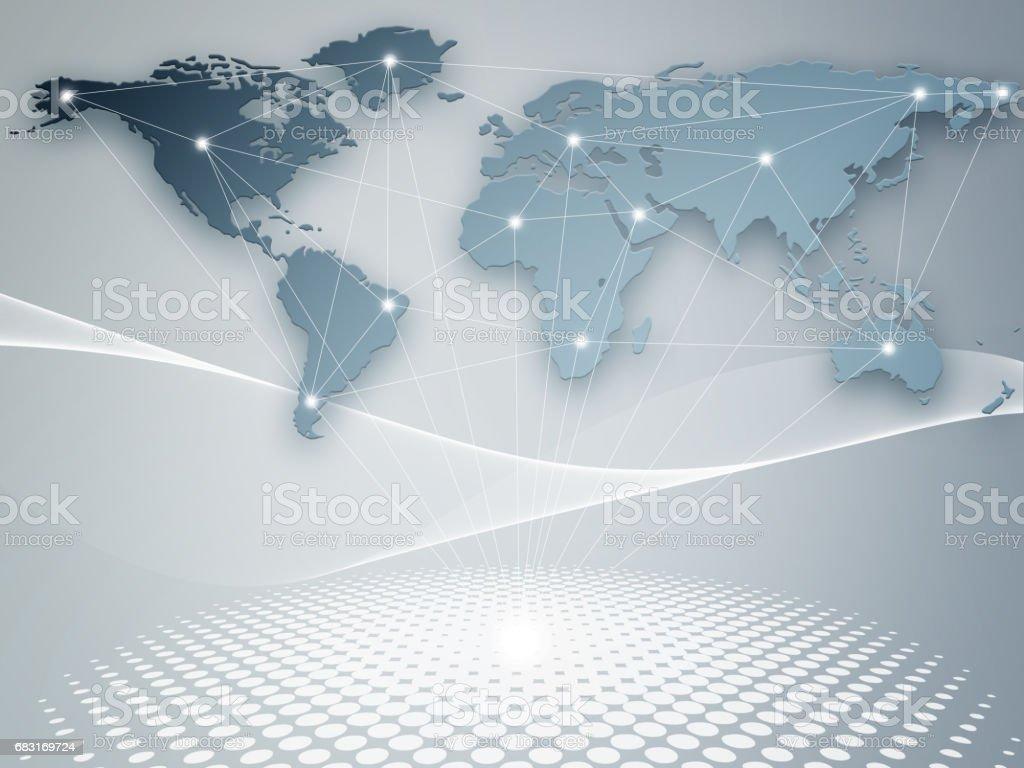 全球業務的最佳互聯網概念。 免版稅 stock photo