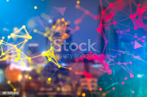 istock Best Internet Technology concept of global business. Elements of this image furnished by NASA. Businessman connecting his business project, social networking or teamwork organization. 681935450