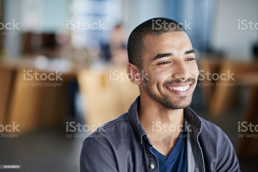 Best job ever! stock photo