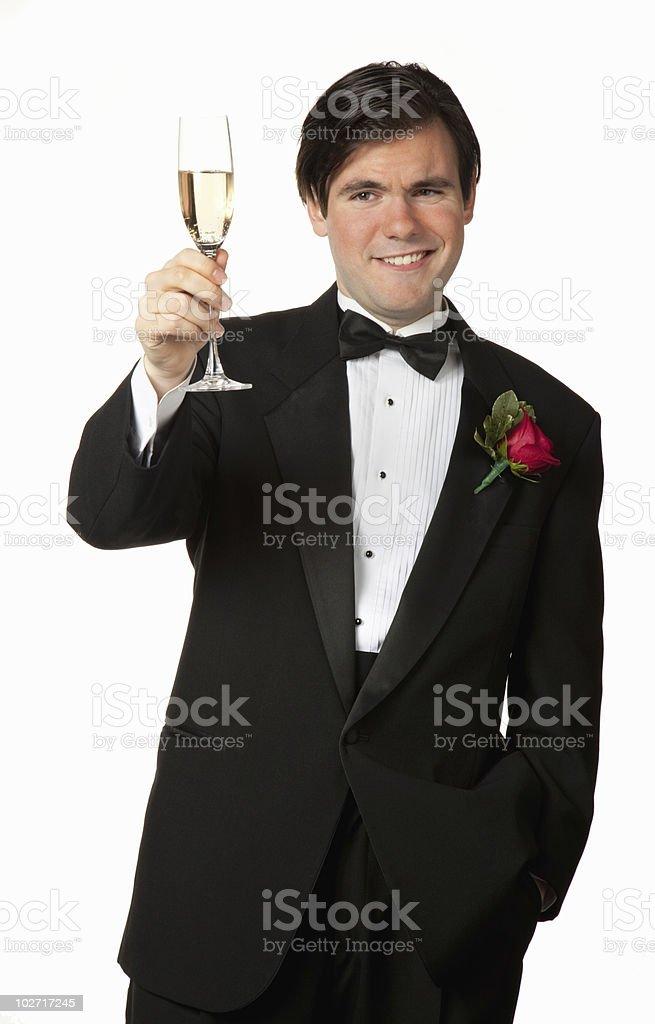 Best Man toasting stock photo