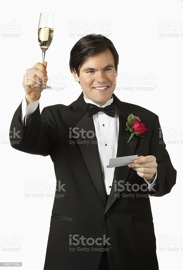 Best Man toasting royalty-free stock photo
