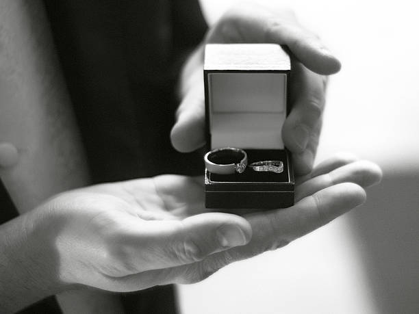 Best Man with Wedding Rings stock photo