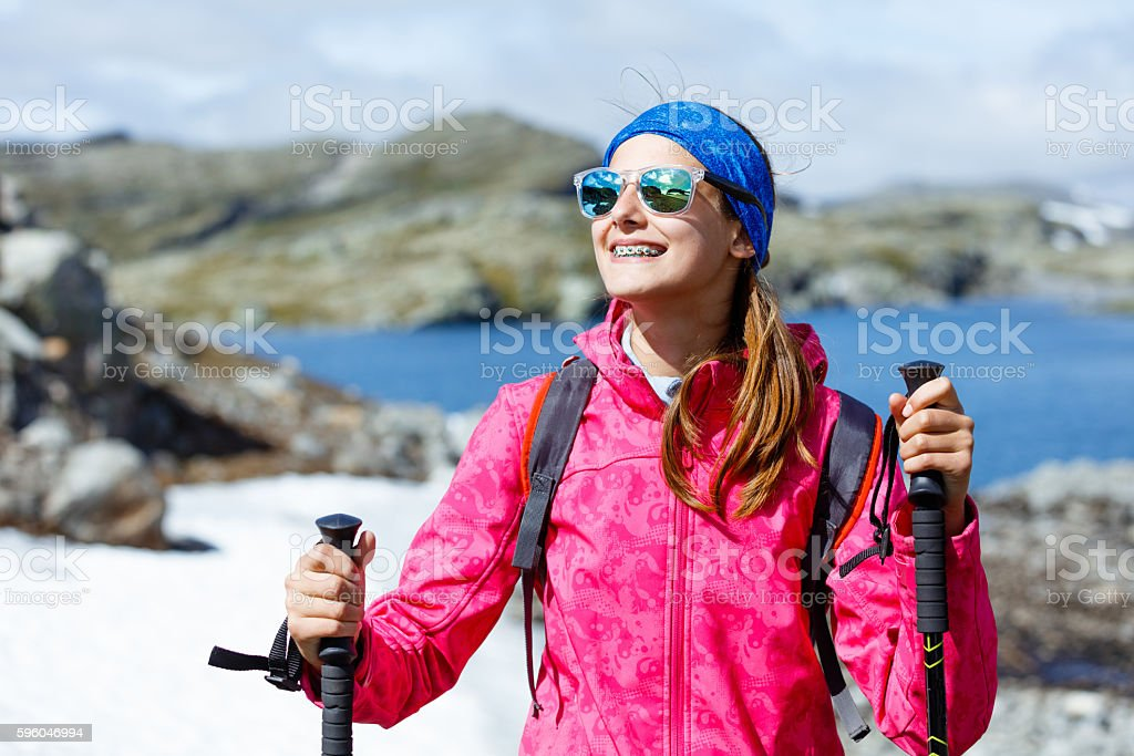 Best Norway hike. royalty-free stock photo