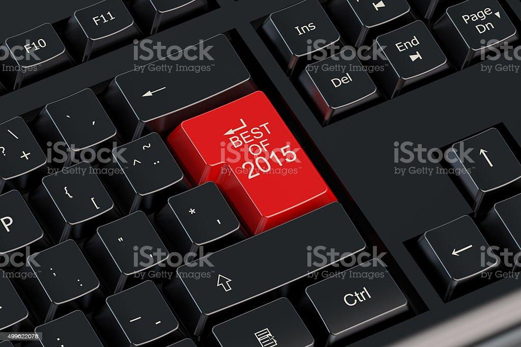 Mejor concepto de 2015 en el teclado - foto de stock