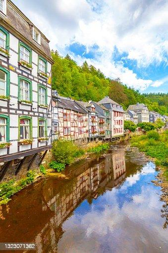 istock Best of the touristic village Monschau, Eifel region, Germany 1323071362