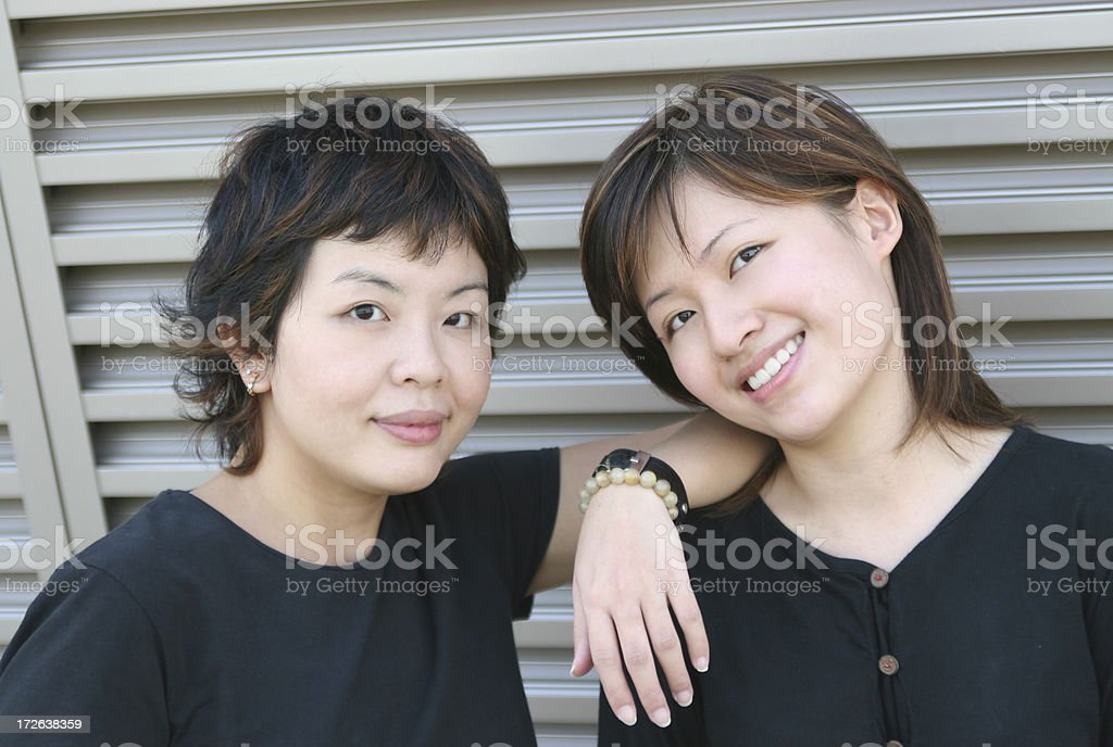 Best Pals/ Sisters royalty-free stock photo