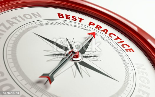 859525326 istock photo Best Practice Concept: Arrow of A Compass Pointing Best Practice Text 847629074