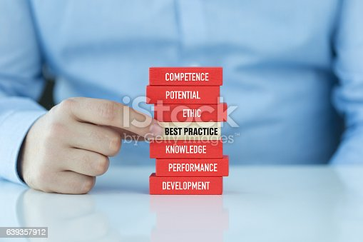 istock Best Practice Concept with Related Keywords on Wooden Blocks 639357912