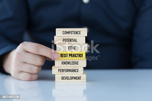 istock Best Practice Concept with Wooden Blocks 657481126