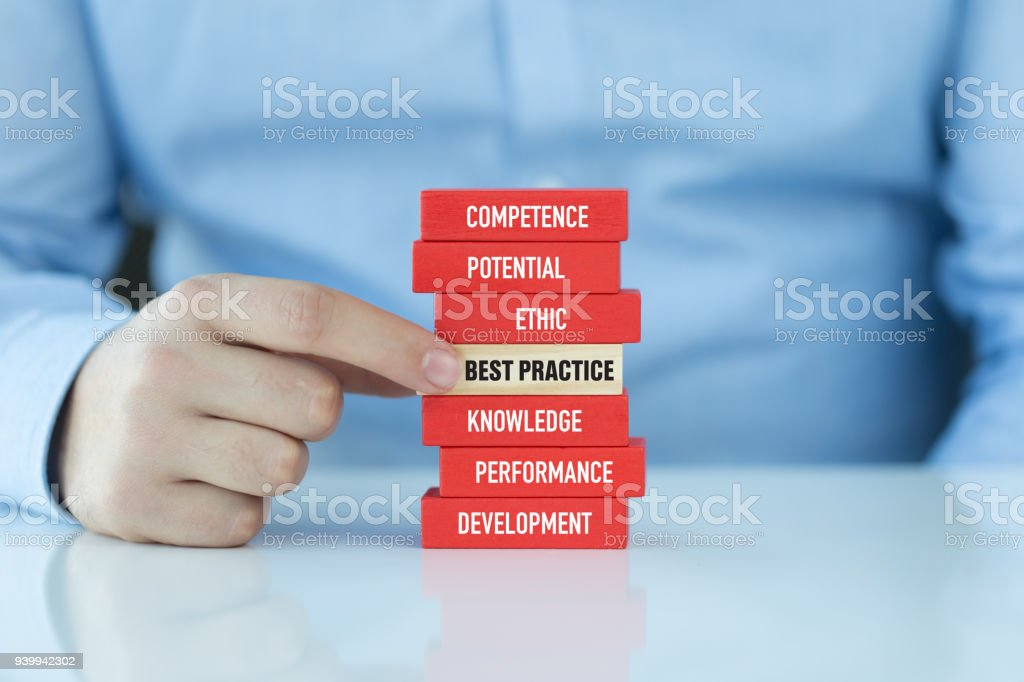 Best Practice Concept with Wooden Blocks stock photo