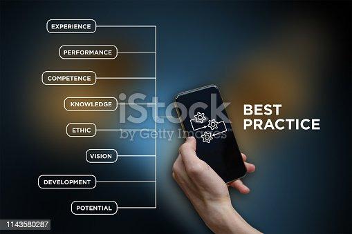 926292396 istock photo Best Practice - icon with keywords 1143580287