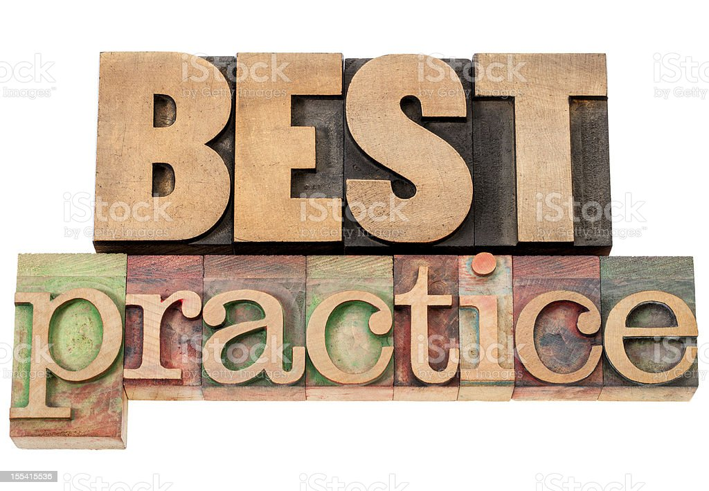 best practice in wood type royalty-free stock photo