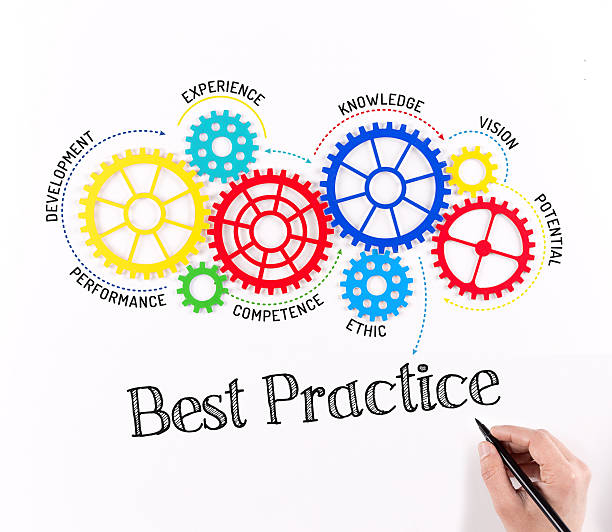best practice mechanism with gears - practising stock photos and pictures