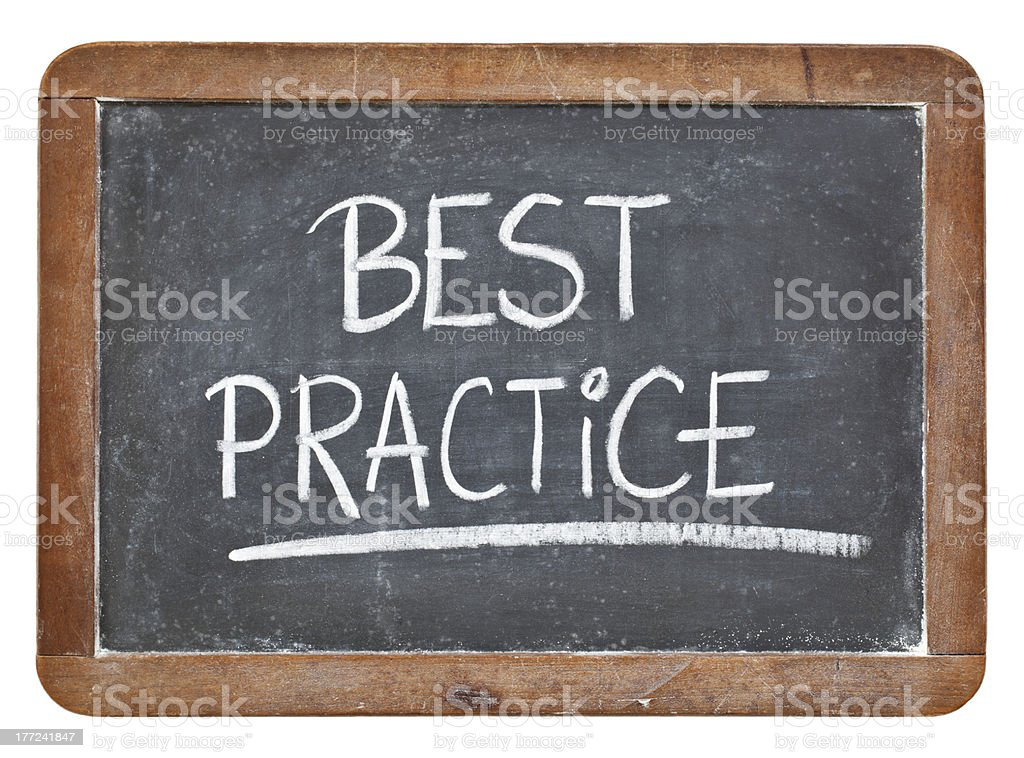 best practice on blackboard stock photo