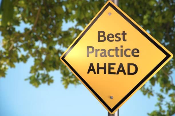 Best Practice! stock photo