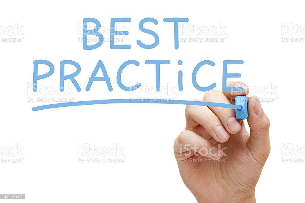 Best Practice royalty-free stock photo