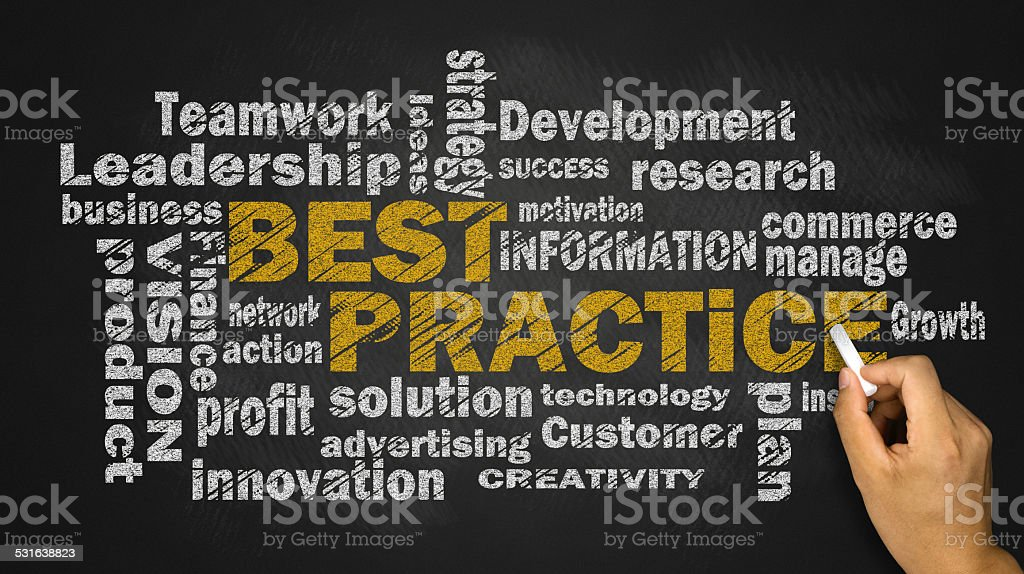 best practice word cloud stock photo