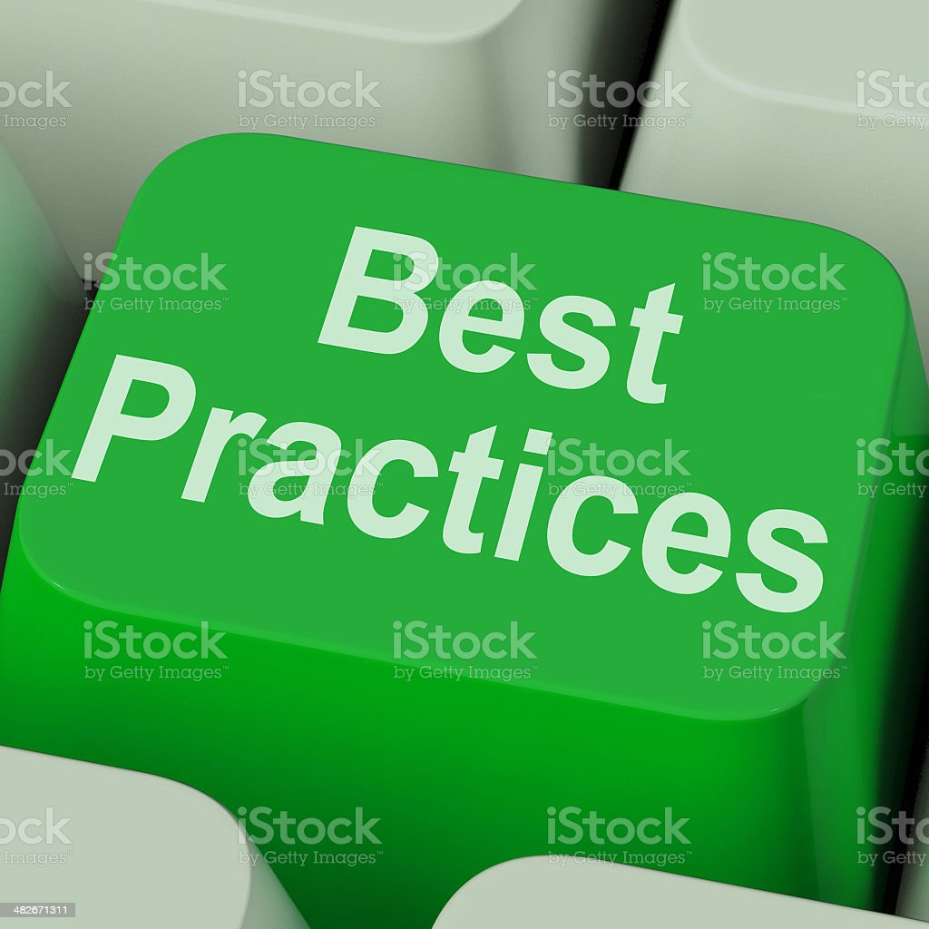 Best Practices Key Shows Improving Business Quality stock photo