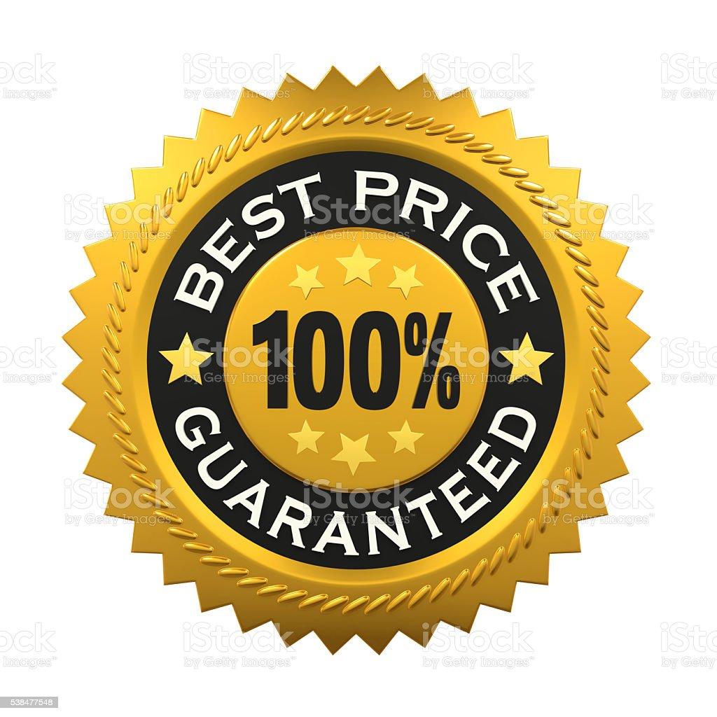 Best Price Guaranteed Label stock photo
