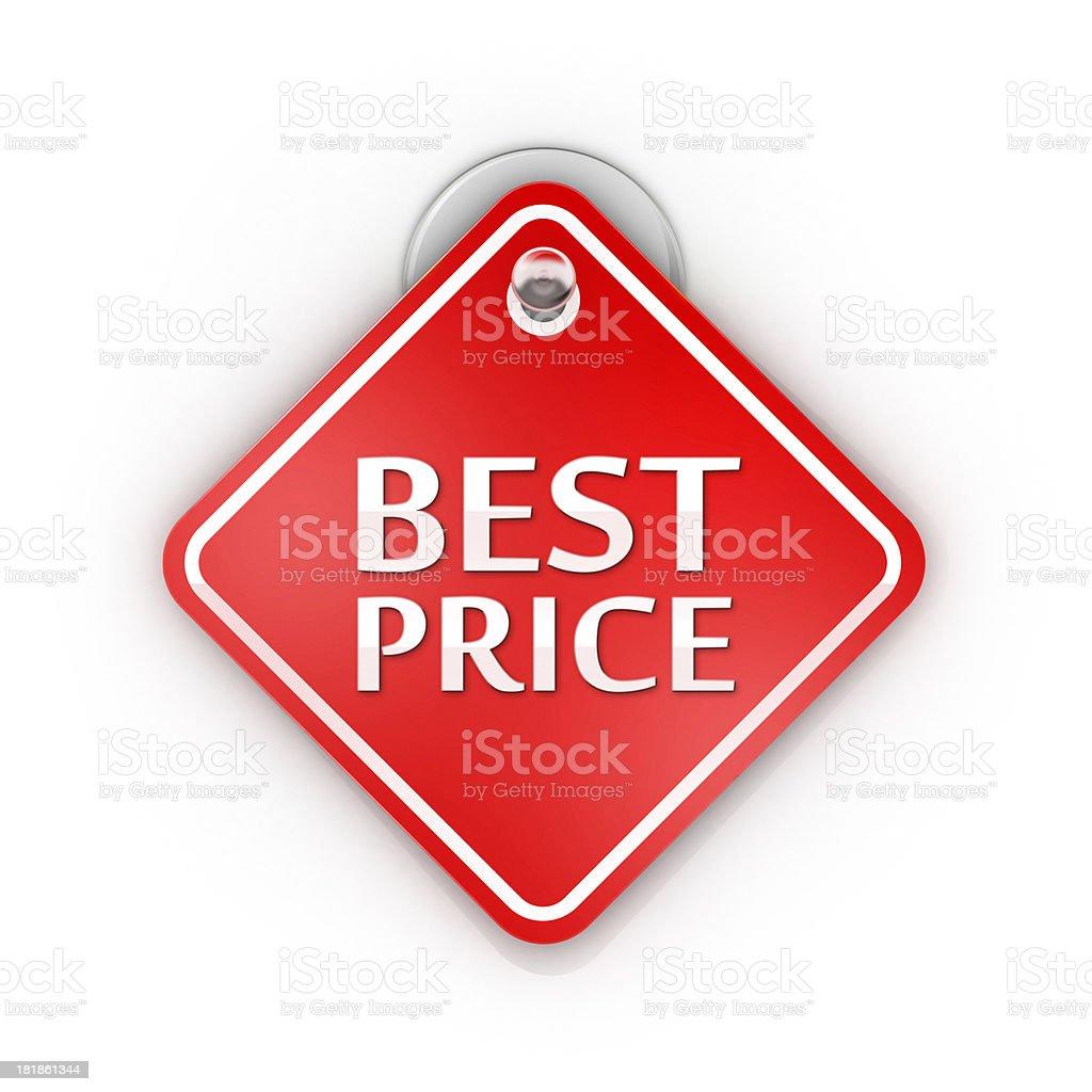 Best Price offer Sticky label royalty-free stock photo