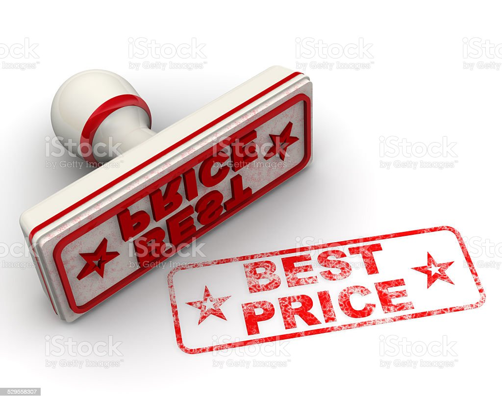 Best price. Seal and imprint stock photo