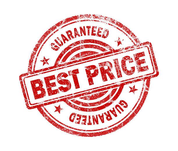 best price stamp on white background stock photo