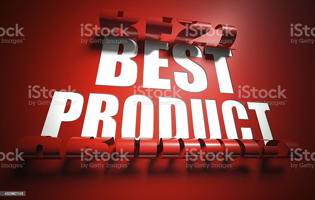 Best product concept, cut out in background royalty-free stock photo
