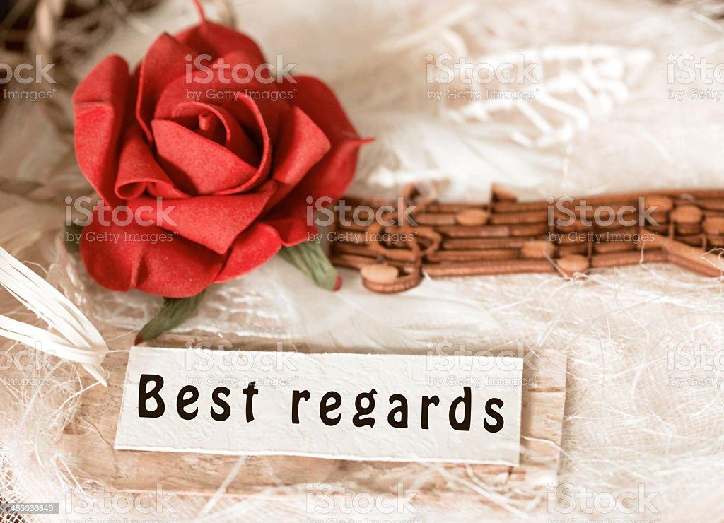 Best regards stock photo