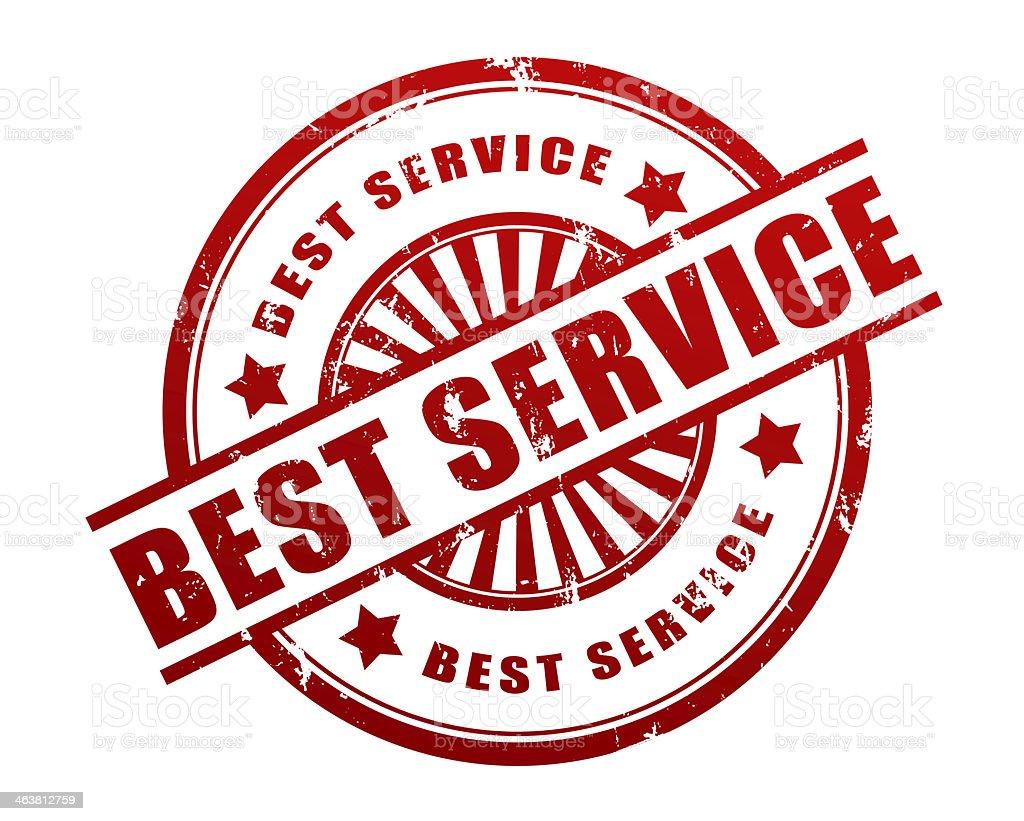 best service stamp stock photo
