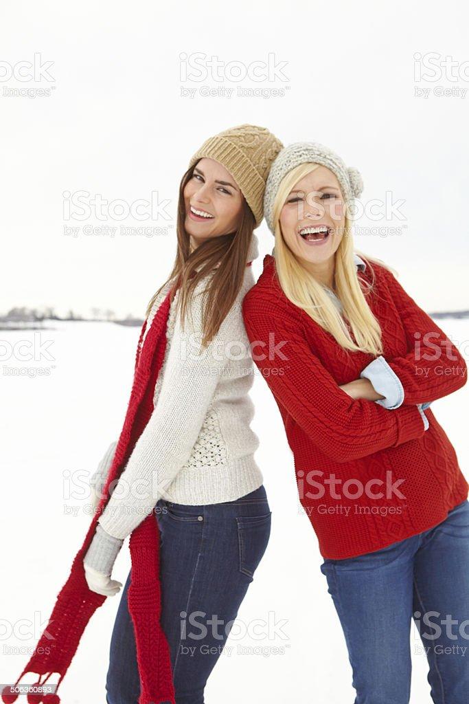 Best snow buddies royalty-free stock photo