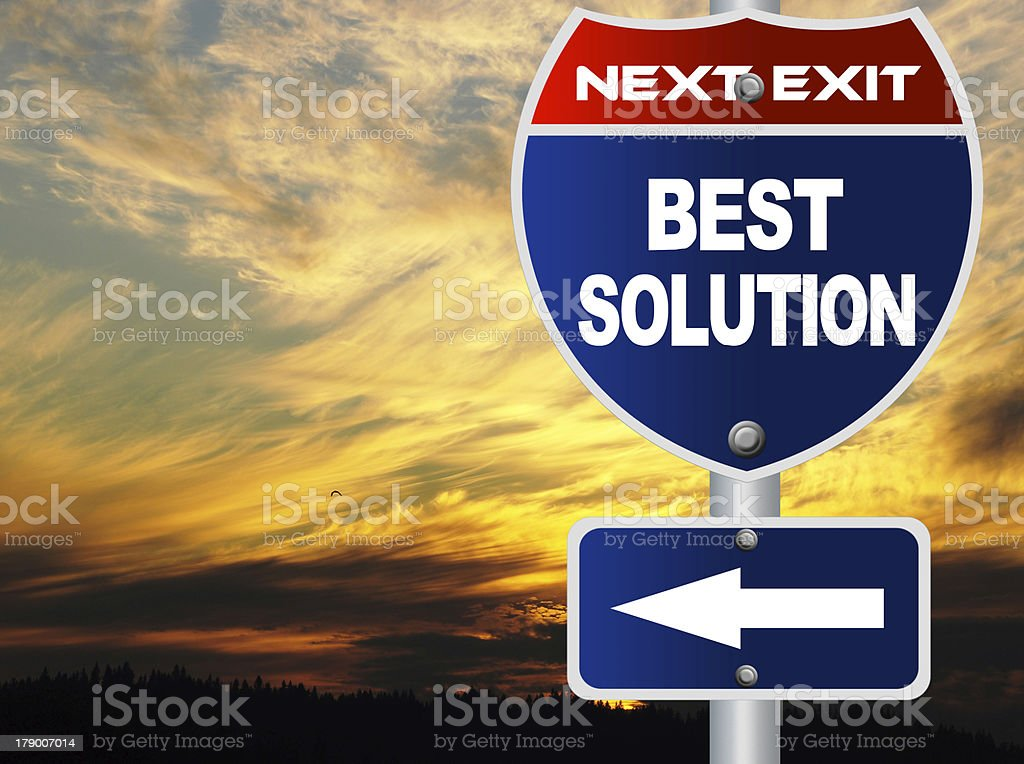 Best solution road sign royalty-free stock photo