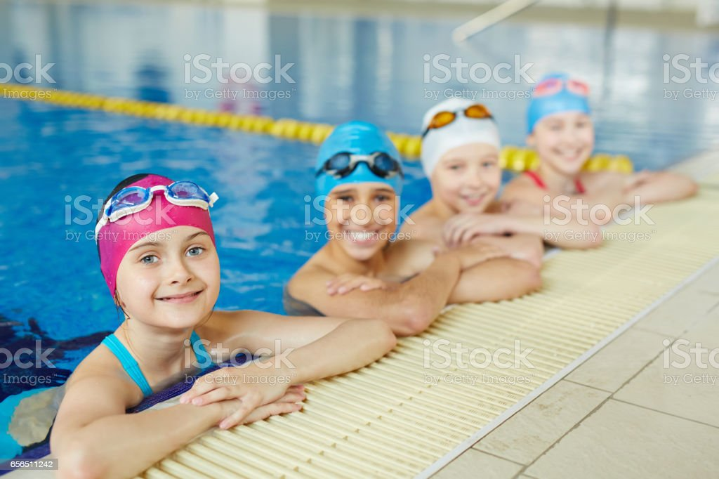 Best Swimmenrs in School stock photo