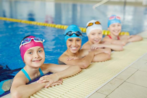 Best Swimmenrs in School stock photo