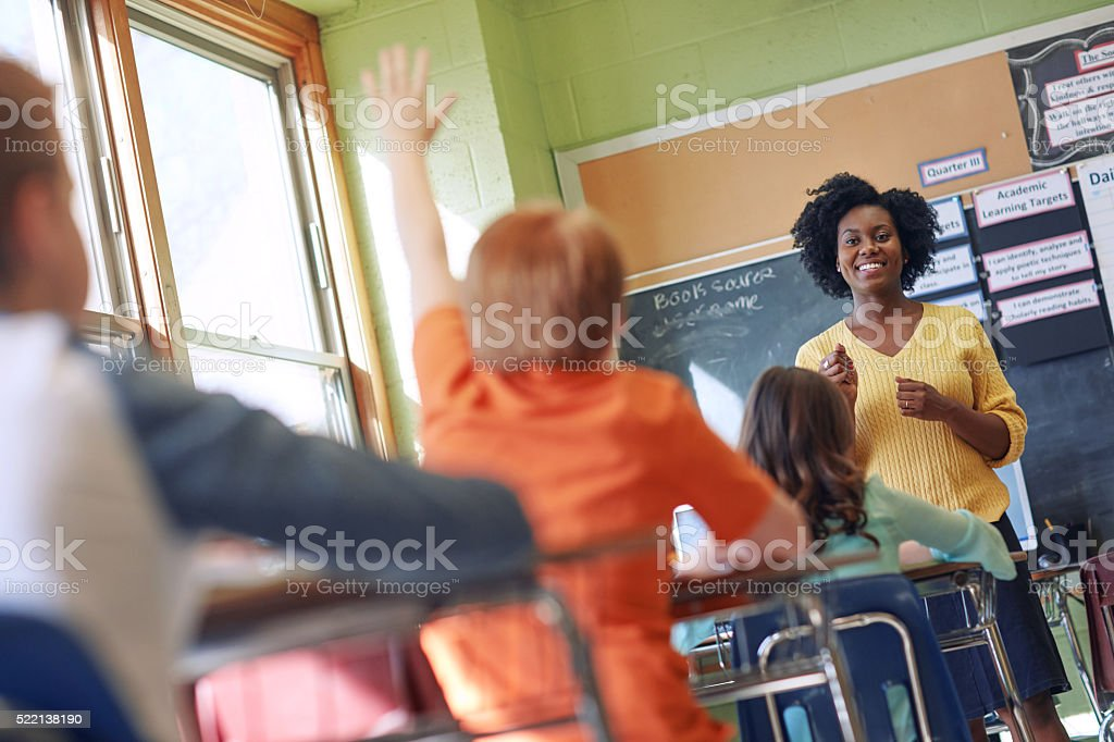 Best teachers teach from the heart not the book stock photo