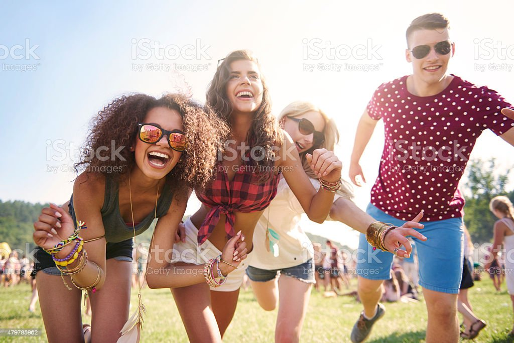 Best time only with my best friends stock photo