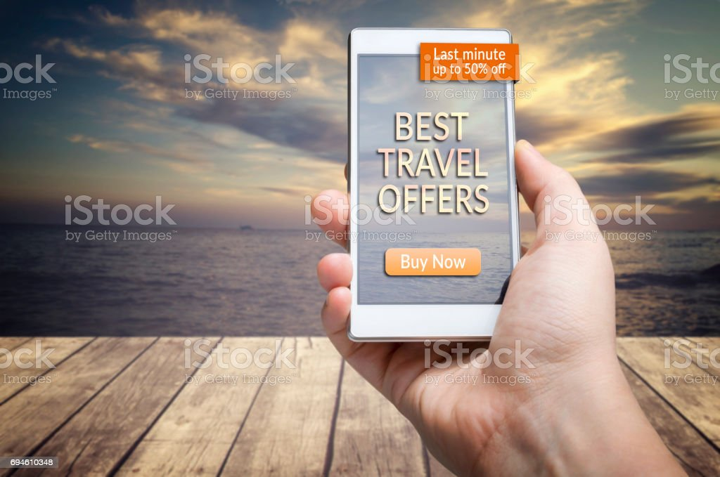 Best travel offers stock photo