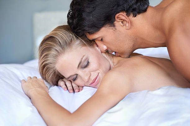 Best way to be woken up stock photo