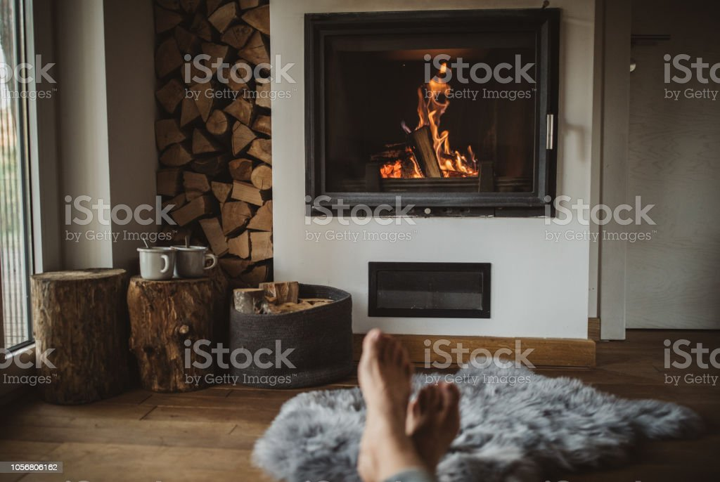 Best way to spend winter day stock photo