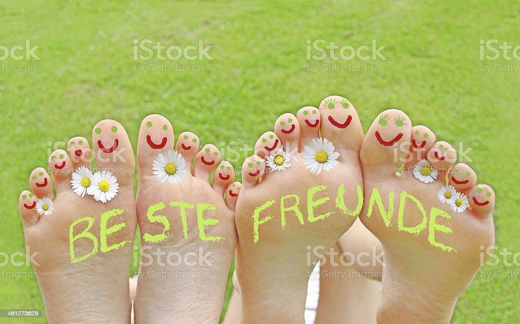 Beste Freunde stock photo