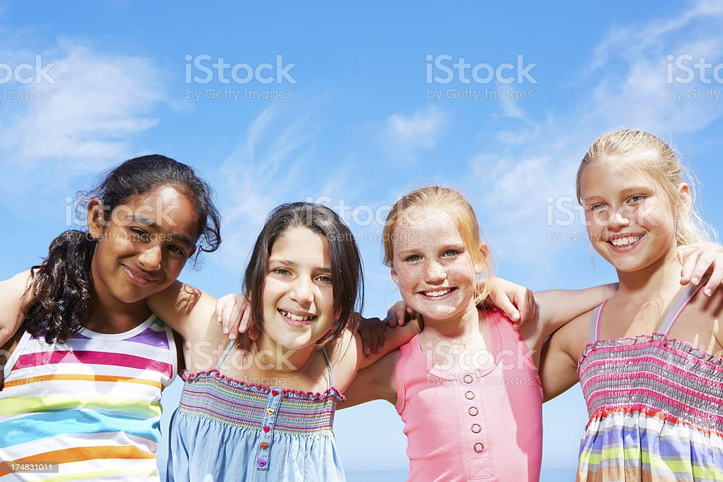 Besties royalty-free stock photo