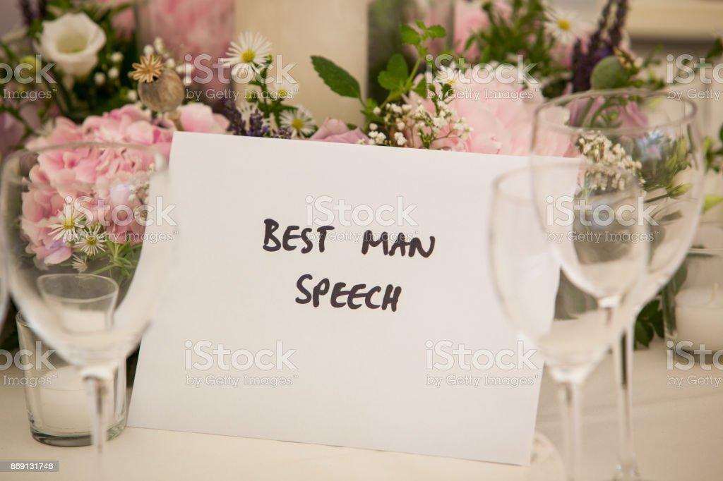 Bestman speech stock photo